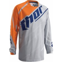 Thor Phase Doppler Vented Kids Youth Motocross Jersey CEMENT ORANGE