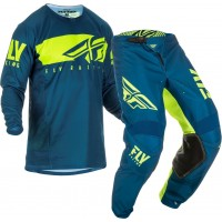2019 Fly Racing Kinetic Shield Kids Youth Motocross Gear Navy Hi Viz
