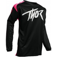 2020 Thor Sector Link Youth Kids Motocross Jersey BLACK PINK