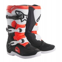 Alpinestar Tech 3S Kids Youth Motocross Boot Black White Flo Red