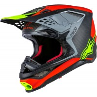 Alpinestars Supertech SM-10 SM10 ANAHEIM A1 LE Motocross Helmet Red Grey Yellow SMALL ONLY