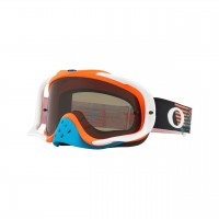 Oakley Crowbar CIRCUIT ORANGE BLUE Motocross Goggles DARK GREY LENS