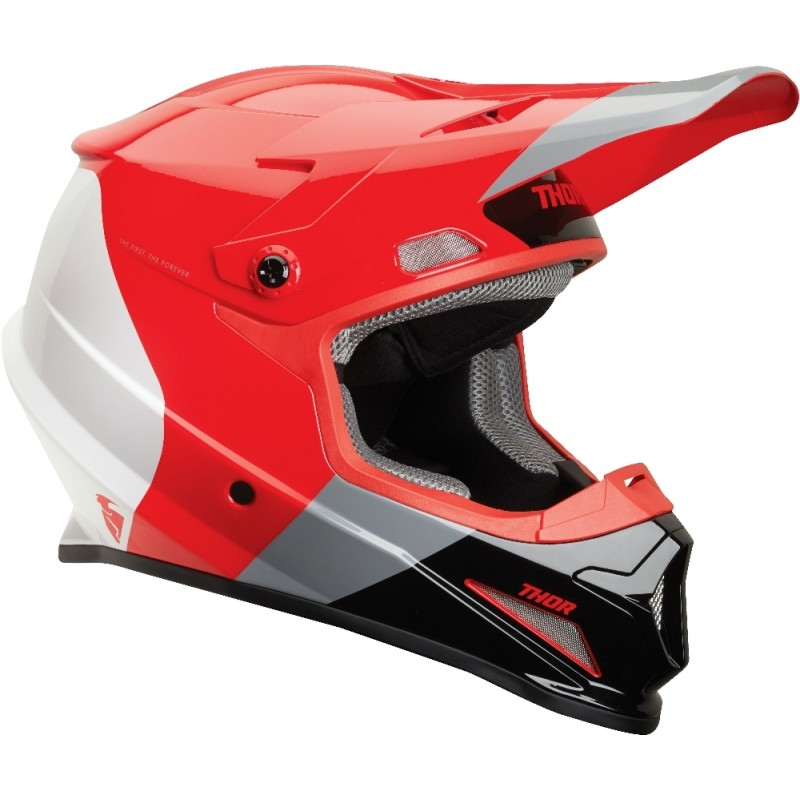NEW Thor Sector MIPS Motocross Helmet BOMBER RED CHARCOAL