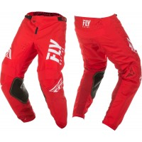 2019 Fly Racing Kinetic Shield Motocross Pants Red White