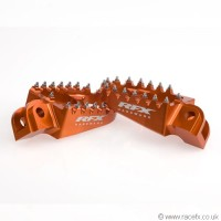 RaceFX Anodised Wide Footpegs for Motocross Bikes