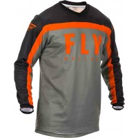2020 Fly Racing F16 Youth Kids Motocross Jersey Grey Black Orange