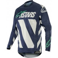 2019 Alpinestars Racer BRAAP Grey Navy Teal Motocross Jersey SMALL or LARGE ONLY