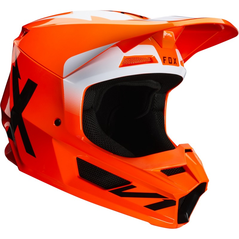 2020 Fox V1 WERD Motocross Helmet FLO ORANGE