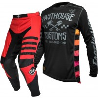 Fasthouse SPEEDSTYLE Motocross Gear RED HAWK BLACK