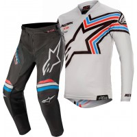 2020 Alpinestars Racer BRAAP Black Light Grey Motocross Gear
