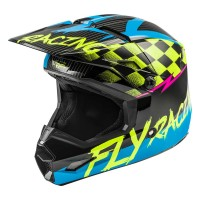 2020 Fly Racing Kinetic Sketch Youth Kids Motocross Helmet BLUE HI VIZ BLACK PINK