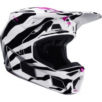 2020 Fox V3 Motocross Helmet VEGAS ZEBRA Limited Edition ALL NEW MEDIUM ONLY