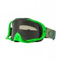 Oakley Crowbar SHOCKWAVE GREEN GREY Motocross Goggles DARK GREY LENS