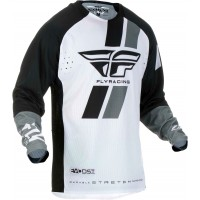 2019 Fly Racing Evolution Motocross Jersey Black White