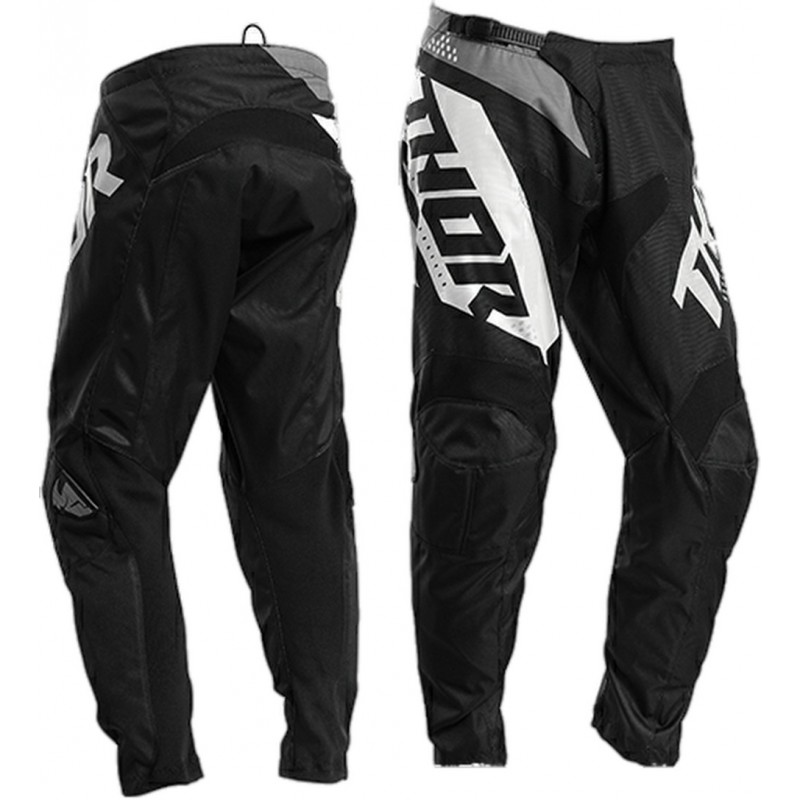 2020 Thor Sector BLADE Youth Kids Motocross Pants BLACK WHITE