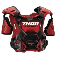 2020 Thor Guardian MX Youth Kids Motocross Chest Protector Body Armour with Arm Guards RED