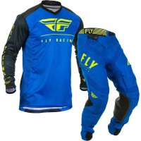 2020 Fly Racing Lite Hydrogen Motocross Gear BLUE BLACK HI VIZ 28 or 30 ONLY
