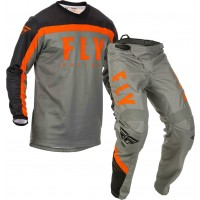 2020 Fly Racing F16 Youth Kids Motocross Gear Grey Black Orange