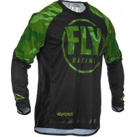 2020 Fly Racing Evolution Motocross Jersey Green Black Camo