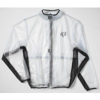 Fox Fluid Rain Jacket Kids Youth CLEAR SMALL ONLY