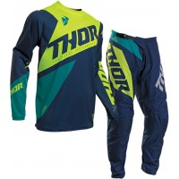 2020 Thor Sector BLADE Youth Kids Motocross Gear NAVY ACID