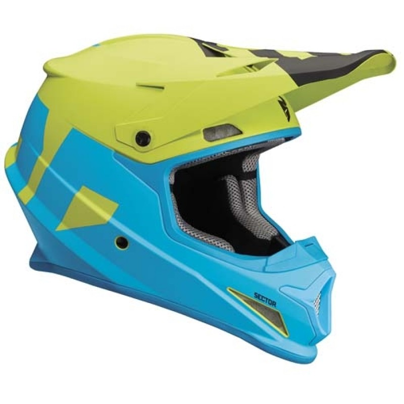 Thor Sector Level Motocross Helmet ELECTRIC BLUE LIME