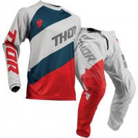 Thor Sector Shear Kids Youth Motocross Gear GREY RED