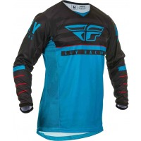 2020 Fly Racing Kinetic K120 Youth Kids Motocross Jersey Blue Black Red