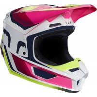 2021 Fox V1 TRO Motocross Helmet FLO YELLOW