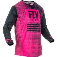 2019 Fly Racing Kinetic Noiz Motocross Jersey Neon Pink Black
