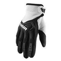 Thor Spectrum Youth Kids Motocross Gloves BLACK WHITE