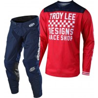 Troy Lee Designs TLD 18.1 GP AIR RACESHOP Motocross Gear Red Navy
