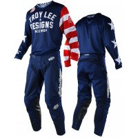 Troy Lee Designs TLD GP AIR Americana Motocross Gear Combo Navy