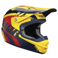 Thor Sector Kids Youth Motocross Helmet RICOCHET NAVY YELLOW