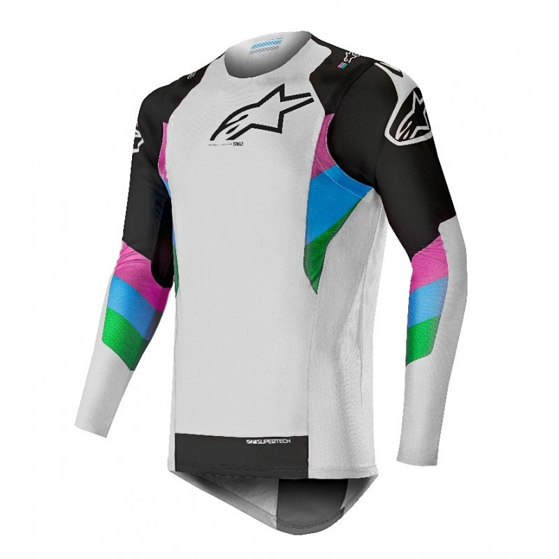 2019 Alpinestars Supertech LE Vision Cool Grey Black Motocross Jersey