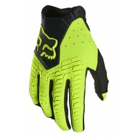 Fox Pawtector Motocross Gloves FLO YELLOW