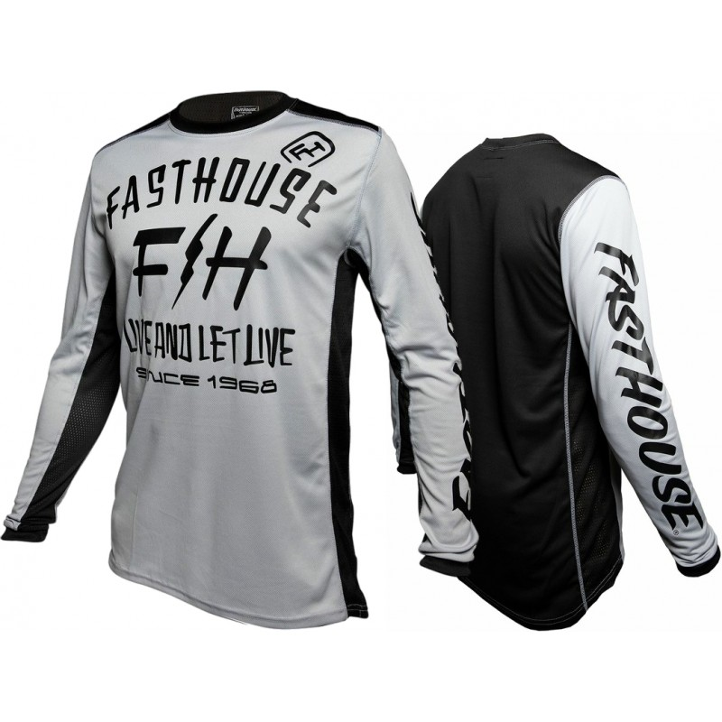 Fasthouse DICKSON Motocross Jersey SILVER XXL ONLY