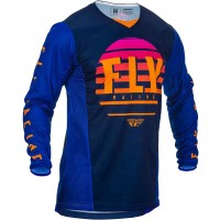 2020 Fly Racing Kinetic K220 Youth Kids Motocross Jersey Midnight Blue Orange