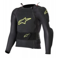 Alpinestars Bionic Plus Youth Kids Action Jacket Body Armour Suit Black Yellow