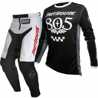 Fasthouse GRINDHOUSE Motocross Gear WHITE 805 BLACK