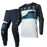 Thor MX Prime Pro Fighter Motocross Gear Blue Camo 36 ONLY