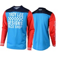 Troy Lee Designs RACESHOP TLD GP AIR 18.1 Motocross Jersey Ocean Blue