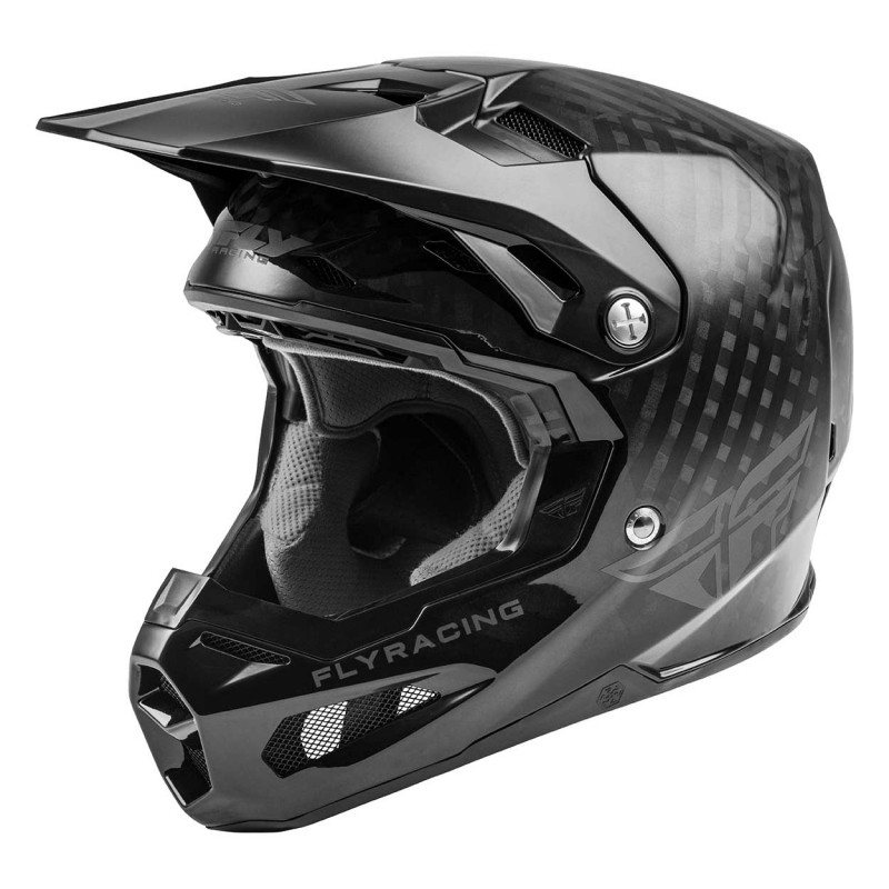 2020 Fly Racing Formula Carbon MIPS Youth Kids Motocross Helmet Black