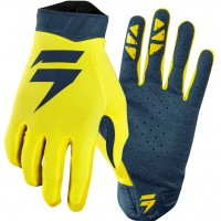 2019 Shift 3LACK Label AIR Motocross Gloves YELLOW NAVY