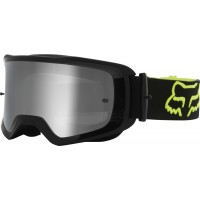 2021 Fox Main 2.0 STRAY Motocross Goggles FLO YELLOW with Clear Lens