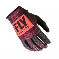 2019 Fly Racing Kinetic Noiz Motocross Gloves Red Black