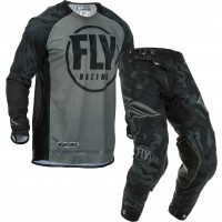 2020 Fly Racing Evolution Motocross Gear Black Grey Camo