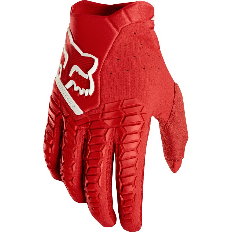 2020 Fox Pawtector Motocross Gloves RED