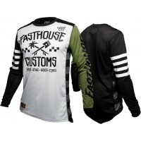 Fasthouse HAWK Motocross Jersey WHITE OLIVE XXL ONLY