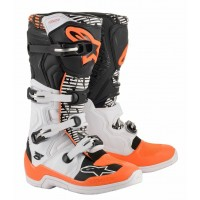 2020 Alpinestar Tech 5 Motocross Boots White Black Flo Orange
